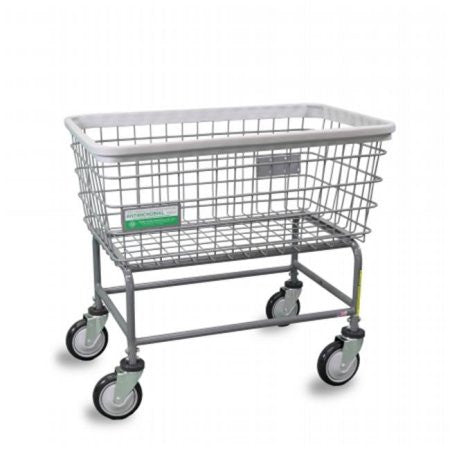 R&B Wire 200F/ANTI Antimicrobial Large Capacity Laundry Cart