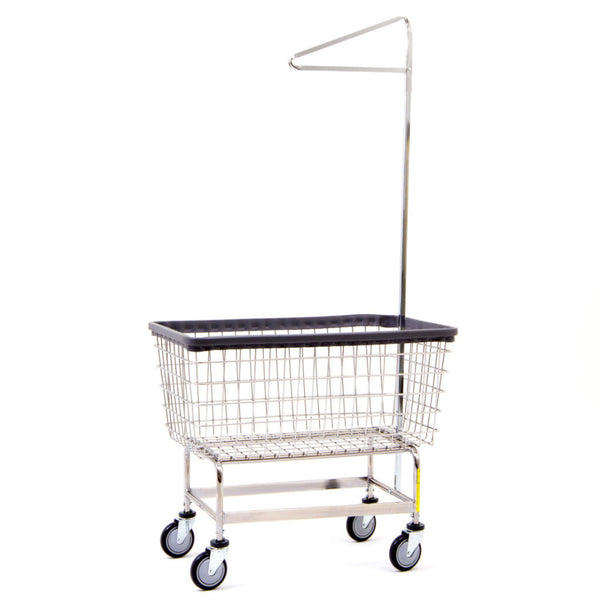 "R&B Wire 201H91  Mega Capacity ""Big Dog"" Laundry Cart w/Single Pole Rack"