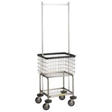 R&B Wire 300G55 Deluxe Elevated Laundry Cart w/ Double Pole Rack