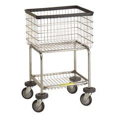 R&B Wire 300G Deluxe Elevated Laundry Cart