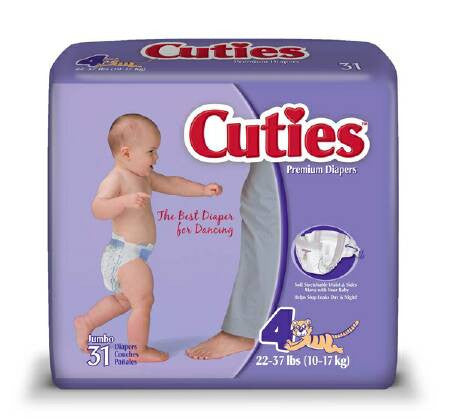 Cuties Baby Diapers CR4001   (699154PK) 31/PK