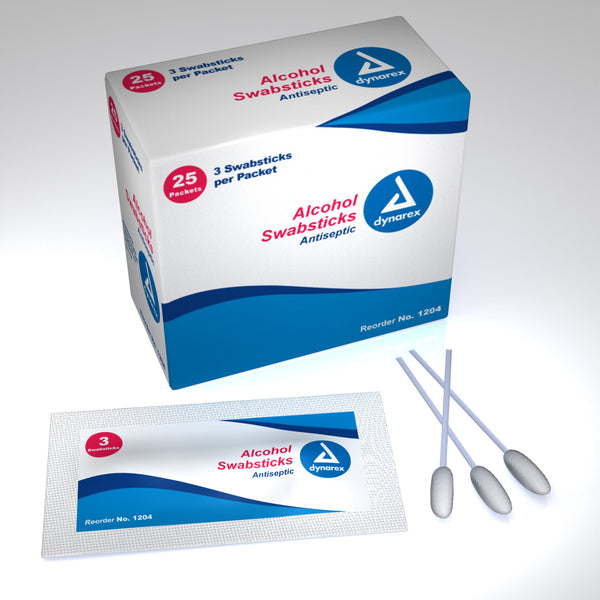 Alcohol Swabsticks 1204   (823398BX) 25/BX
