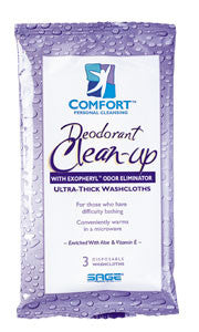 "Deodorant Clean-Up Washcloths 7943  6x8.5"" (449339PK) 3/PK"