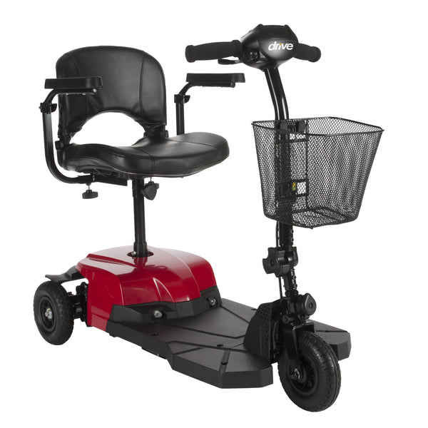 Bobcat X3 Compact Transportable Power Mobility Scooter, 3 Wheel, Red (BOBCATX3) - Drive DeVilbiss Healthcare Shop Now at LifeSupply.com