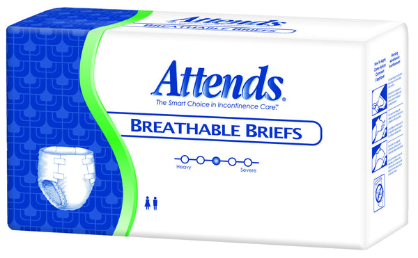 Attends Breathable Brief BRB40 White  (633841PK) 20/PK