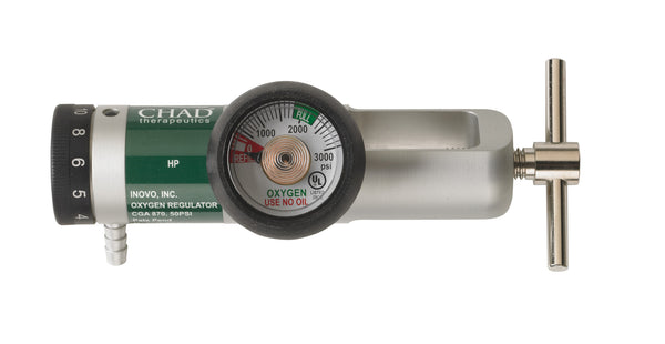 Chad CGA 870 Brass Core Oxygen Regulator, 0-15 LPM (CH3115-L) - Drive DeVilbiss Healthcare Shop Now at LifeSupply.com