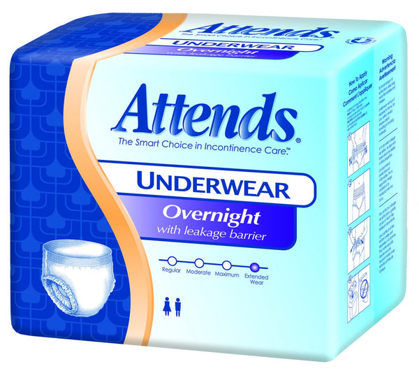Attends Overnight Protective Underwear APPNT40 White  (830767CS) 48/CS