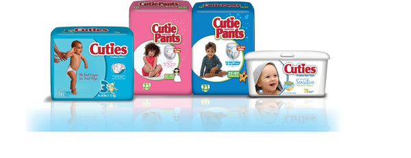 Cuties Baby Diapers CR3001   (874709CS) 144/CS