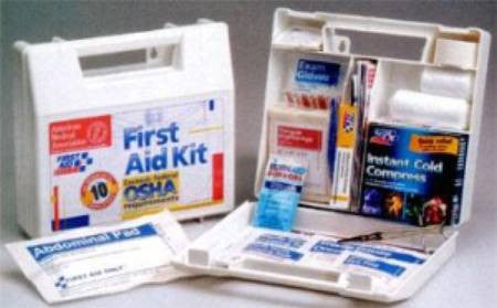 "10 Person, 63 Piece Bulk First Aid Kit 222U  9x8-3/8x2-1/2"" (862038EA) 1/EA"