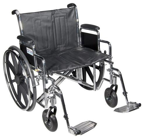 Drive Medical Bariatric Sentra EC Heavy-Duty Wheelchair STD24ECDDA-ELR   (707667EA) 1/EA