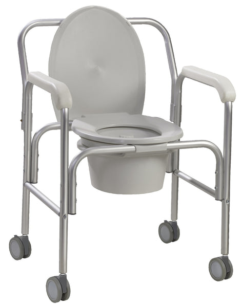Drive Medical Aluminum Commode with Wheels 11112-2   (577678EA) 1/EA
