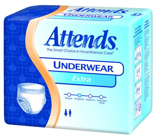 Attends Extra Protective Underwear AP0720100 White  (761659PK) 25/PK