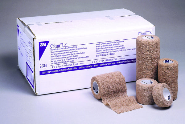 "3M Coban Latex-Free Self-Adherent Wrap 2084 Tan 4""x5 Yard (382060EA) 1/EA"