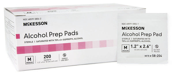 McKesson Alcohol Prep Pad 58-204   (191089CS) 4000/CS