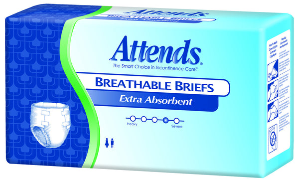 Attends Breathable Brief, Extra BRBX30 White  (634880CS) 72/CS