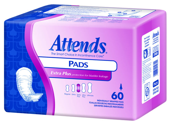 "Attends Extra Plus Bladder Control Pads LP0400  12.5"" Length (681729PK) 60/PK"