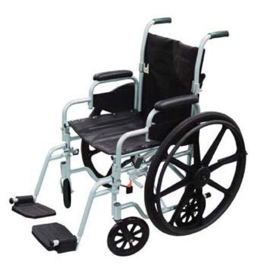 Drive Medical Poly-Fly High Strength Lightweight Wheelchair/Transport Chair Combo TR20   (585636EA) 1/EA