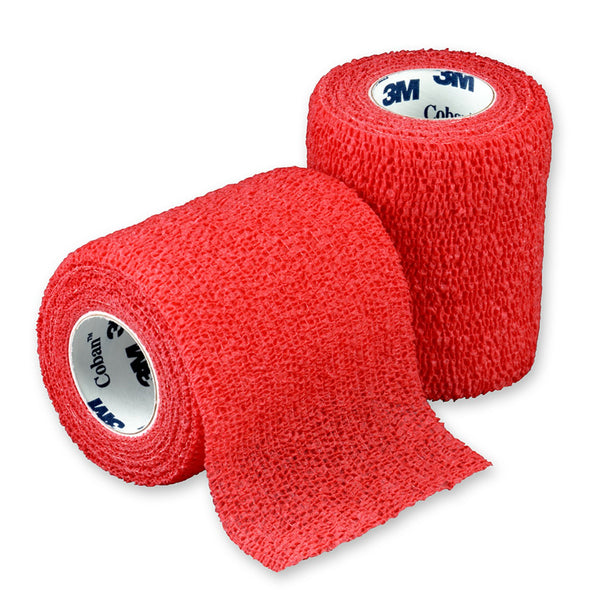 "3M Coban Self-Adherent Wrap 1583R Red 3""x5 Yard (176491CS) 24/CS"