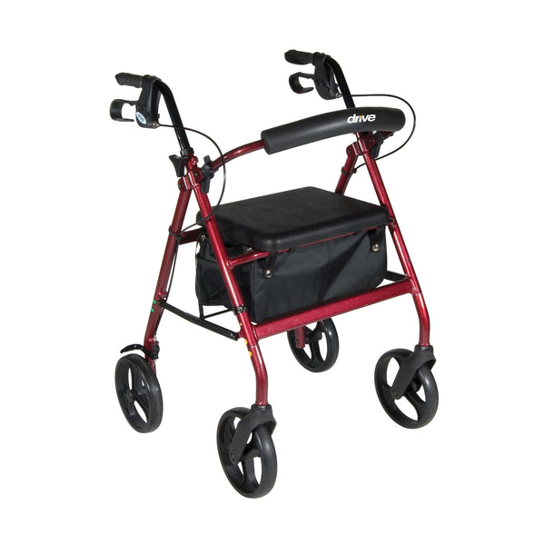 Aluminum Rollator with Removable Wheels, Red (RTL728RD) - Drive DeVilbiss Healthcare Shop Now at LifeSupply.com