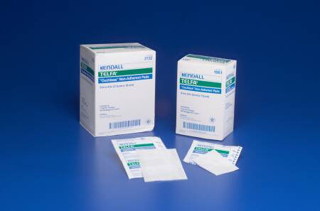"Telfa Non-Sterile Ouchless Non-Adherent Dressings 3279 White 8x10"" (10051CS) 500/CS"