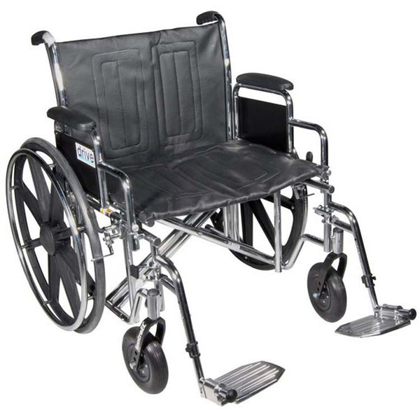 Drive Medical Bariatric Sentra EC Heavy-Duty Wheelchair STD22ECDFA-SF   (719524EA) 1/EA