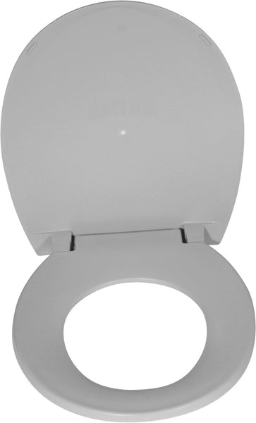 "Drive Medical Oblong Oversized Toilet Seat with Lid 11161N-1 White 16-1/2"" Seat Depth (865191EA) 1/EA"