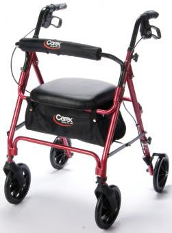 Carex Roller Walker FGA22200 0000 Red  (526314EA) 1/EA
