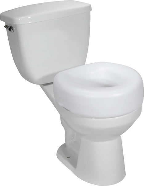 "Drive Medical Raised Toilet Seat 12040-3 White 15 Wx15 L"" (577681CS) 3/CS"
