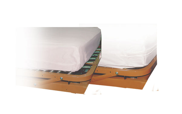 "Drive Medical Contoured Mattress Cover 15010 White 36x80x6"" (579700CS) 36/CS"