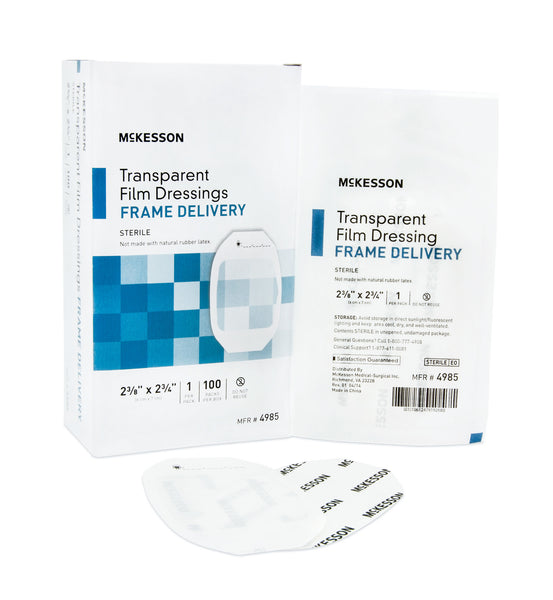 "McKesson Transparent Film Dressing 4985  2-3/8x2-3/4"" (886408BX) 100/BX"