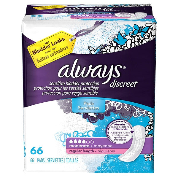 Always Discreet Moderate Regular Incontience Liner 3700088700   (928382CS) 120/CS
