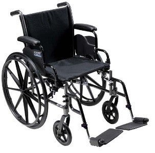 "Drive Medical Cruiser III Wheelchair Full Arm 18"" Seat with Elevating Leg Rests K318DFA-ELR   (700953CS) 1/CS"