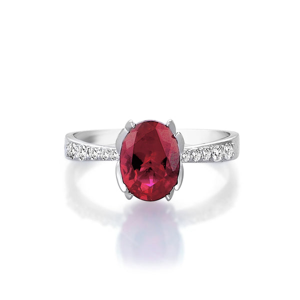 Ally Ruby Solitare Ring
