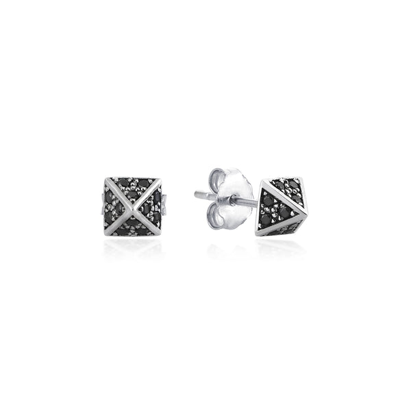 Giza Black Diamonds Earrings