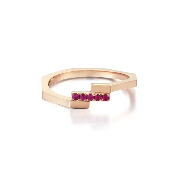 Adira Stacking Ring <br> with Rubies