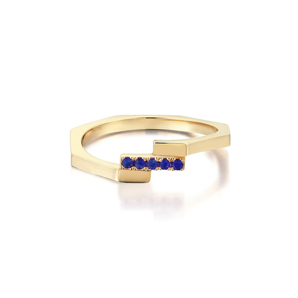 Adira Stacking Ring <br> with Sapphires