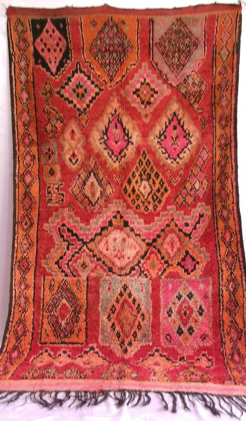 Talsint Red Carpet  Morocan tribal Handmade #B09#