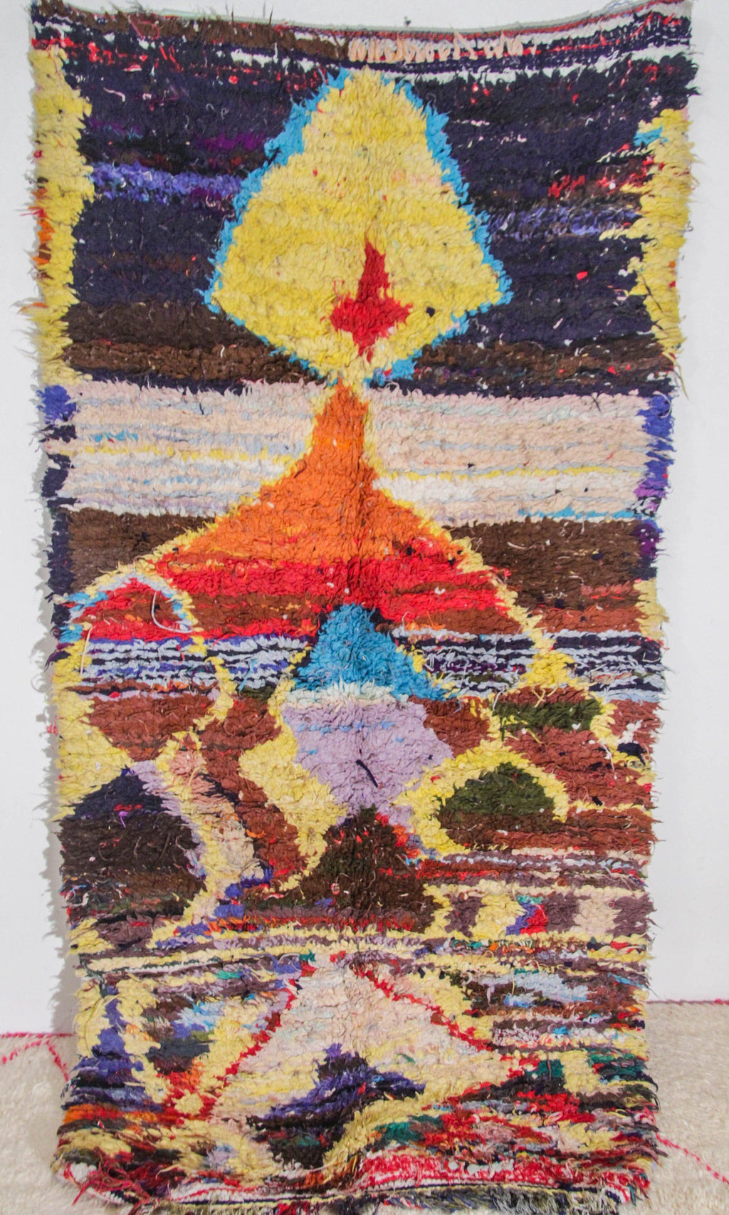 Amesggin  boucherouite rug tapis berbere psychedelic tapestry moroccan rugs - HammoudRugs