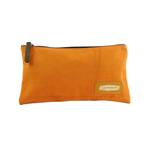 Causegear: Burnt Orange Canvas Pouch