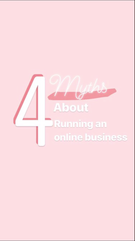 4 Myths About Running an Online Business