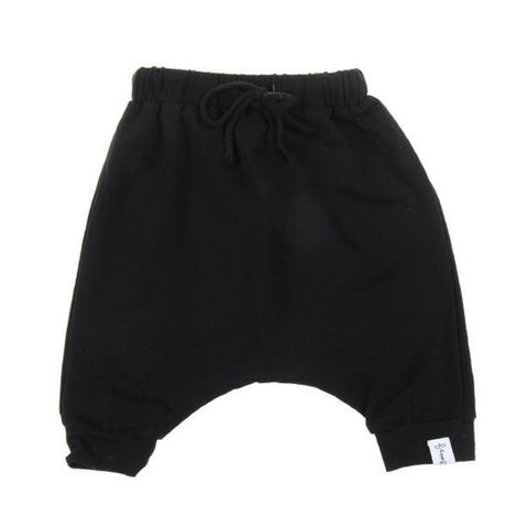 bobby g black harem shorts royal rhino kids trendy