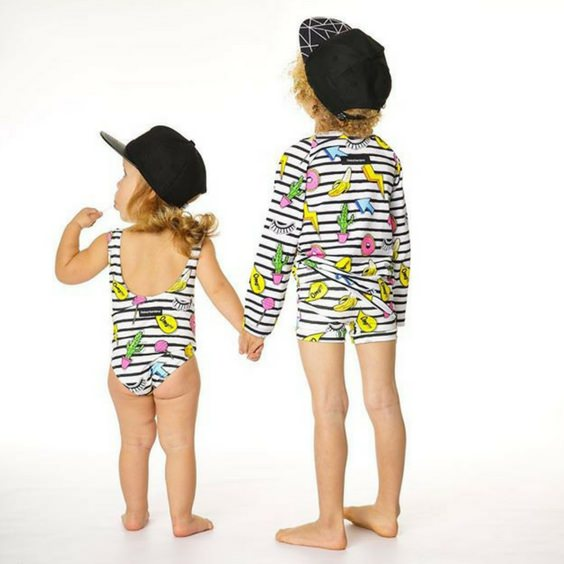 global bambino girls onepiece swimmers royal rhino