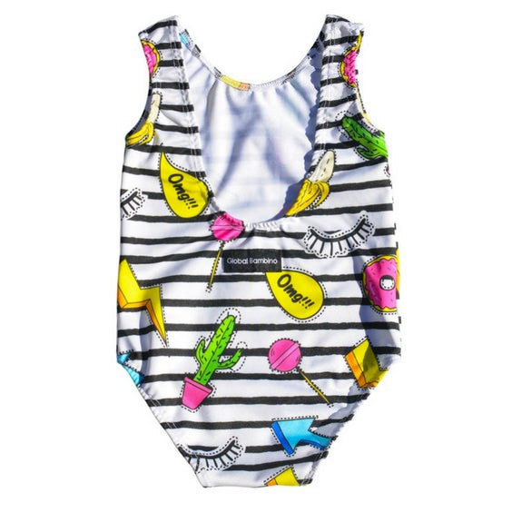 global bambino cut out swimmers girls royal rhino