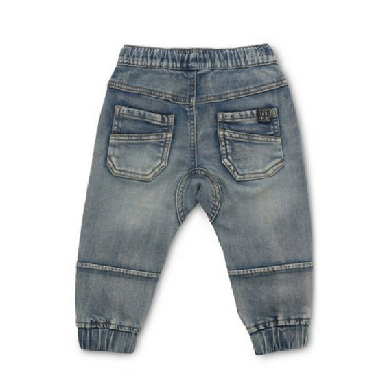indie kids biker drifter cool baby jeans winter royal rhino