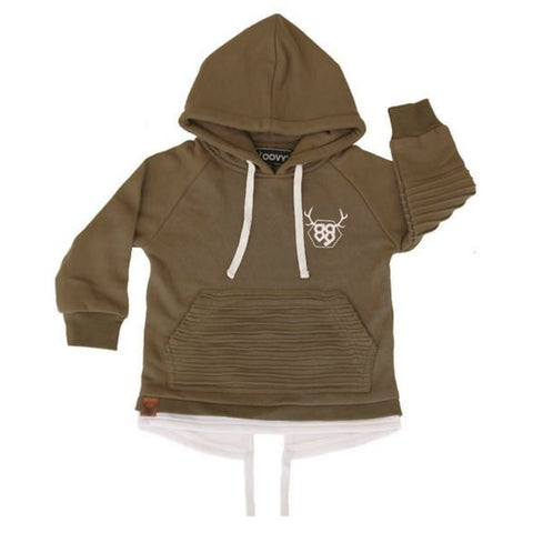 khaki tailback fleece hoodie oovy street fashion