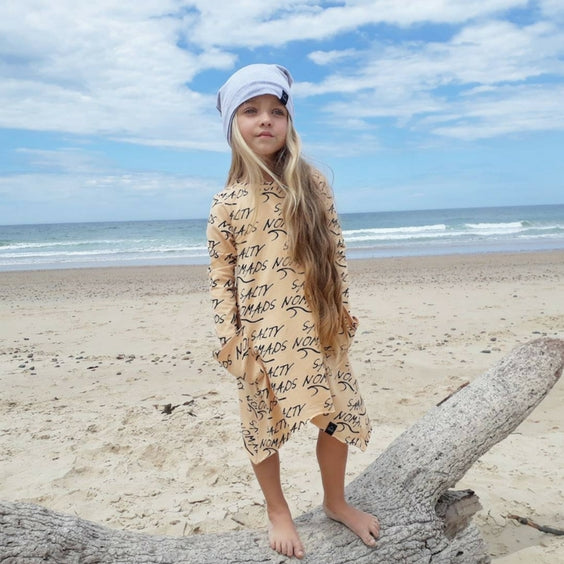 salty nomads dress sunday soldiers girls surf royal rhino