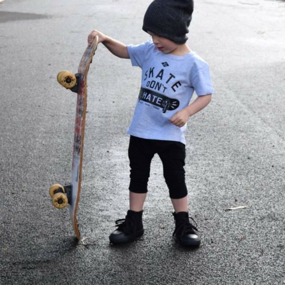 skate dont hate tee grey little lords royal rhino
