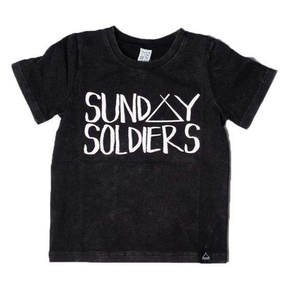 sunday soldiers logo tee royal rhino unisex trendy