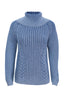 ELEGANT TURTLE NECK - LIGHT INDIGO BLUE