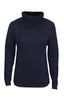 Elegant Turtle Neck in Dark Blue. Piece of Blue